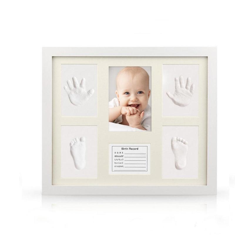Baby Souvenirs Safe Newborn Baby Handprint Footprint Makers Photo Frame Imprint Kit Ink Pad Photo Frames