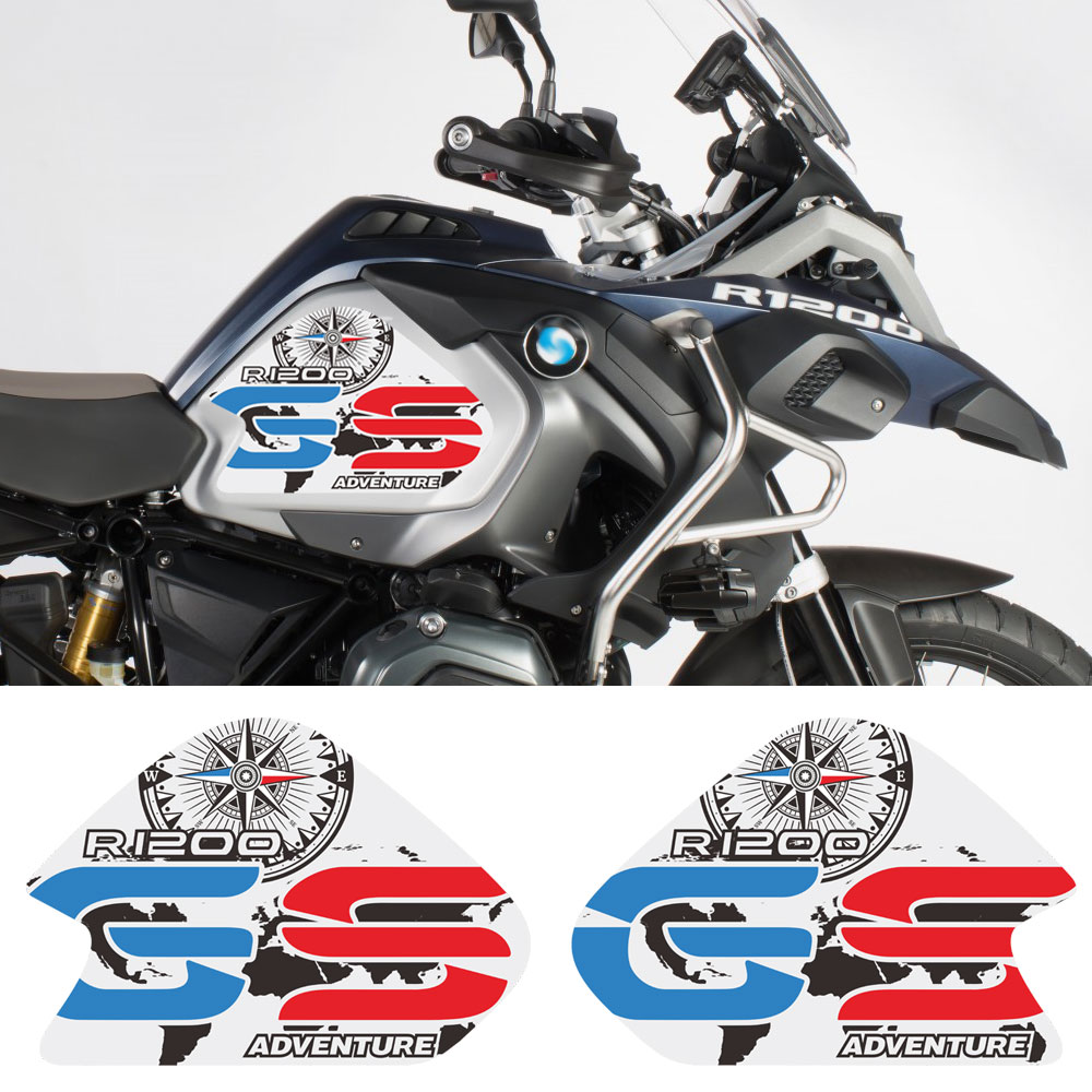 Black 3D Rubber Fuel Tank Pad Tankpad Protector Decal for BMW R1200GS R 1200 R-1200-GS BMW-R1200GS GS Adventure ADV GS-Adv Motorcycle Gas Protector Sticker