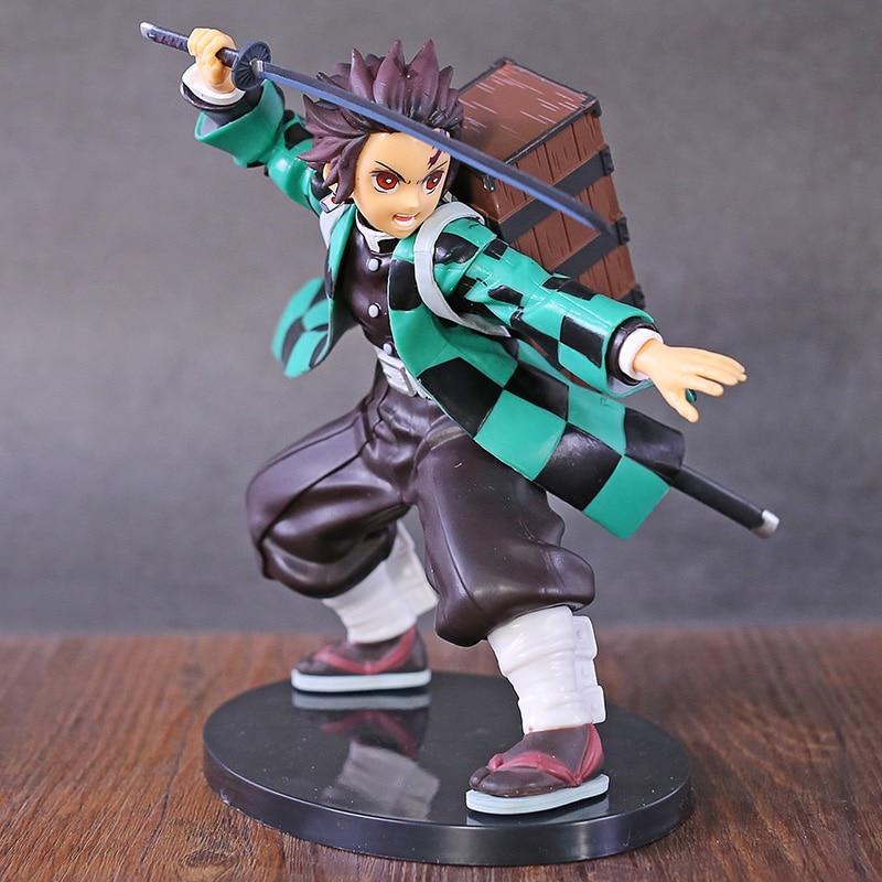 Anime Kimetsu No Yaiba Kamado Tanjirou PVC Figure Collectible Demon Slayer Model Toy