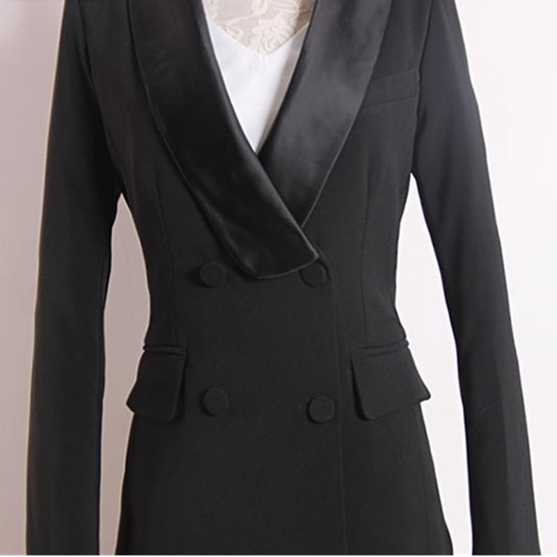 Women's suit fashion slim women's suit two piece suit blazer with slacks trousers women's business casual professional wear set - 5
