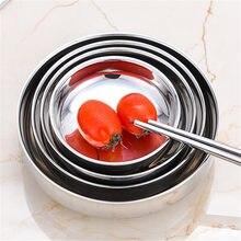 Roestvrij Staal Kruiden Ronde Schotel Side Plaat Ronde Zilveren Saus Rijst Container Keuken Picknick Diverse Salade Saus Lade Kom