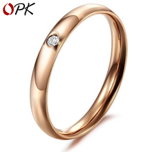 цена на Brand women ring Japanese and Korean fashion jewelry New Ladies titanium steel ring Noble lady ring women accessories heart gift