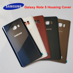 Samsung Galaxy Note5 Note 5 Back Battery Cover 3D Glass Housing Cover For Samsung note 5 note5 Door Rear Case Replacement + logo