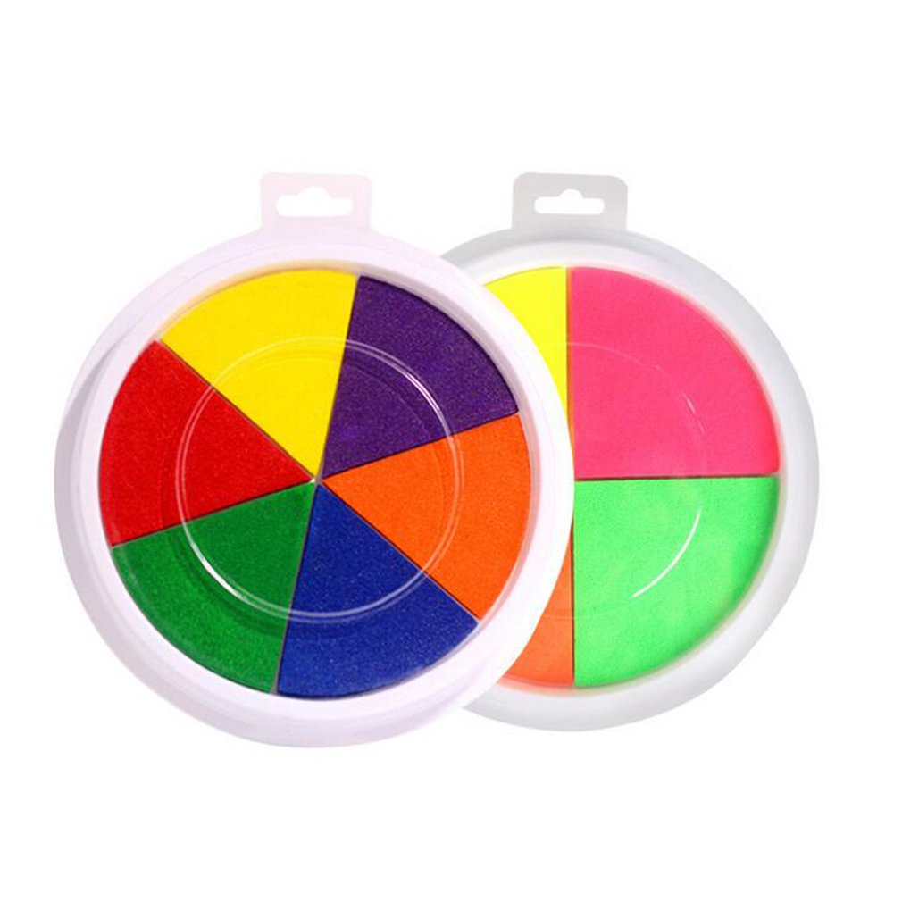 Baby Finger Painting Ink Mud Creative Toys DIY Color Ink Pad Kindergarten Palm Ink Safety Non-toxic Children Finger Paint Sale