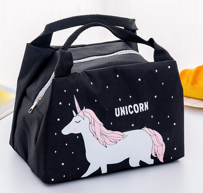 Unicorn Portable Lunch Bag Thermal Insulated Lunch Box Tote Cooler Bag Bento Pouch Lunch Container School Food Storage Bags