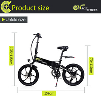 GT20 European stock 2 wheel electric bicycle aluminum alloy 20 inch 48v10ah scooter bicycle foldable lithium battery   -