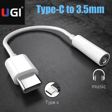 UGI Type C USB C To 3.5mm Audio Aux Headphone Jack Cable Adapter Earphone Converter For Huawei Mate 10 20 P20 P30 Pro Oneplus 6T usb type c to 3 5 mm earphone jack adapter 2 in 1 usb c aux audio cable converter charging splitter headphone adapter for huawei