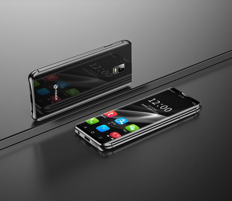 Anica k-touch i10s mini 4G smartphone 3.5 pouces 3GB RAM 32G/64G ROM Android 8.1 FaceID Wifi Hotspot plus petit téléphone portable en cuir
