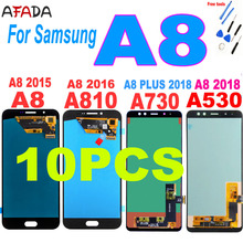 10 PCS For Samsung A8 2015 2016 A800 lcd display A8000 LCD A8100 A810 Display A8 Plus A8+ 2018 A730 LCD Touch A530 A530F Screen цена 2017