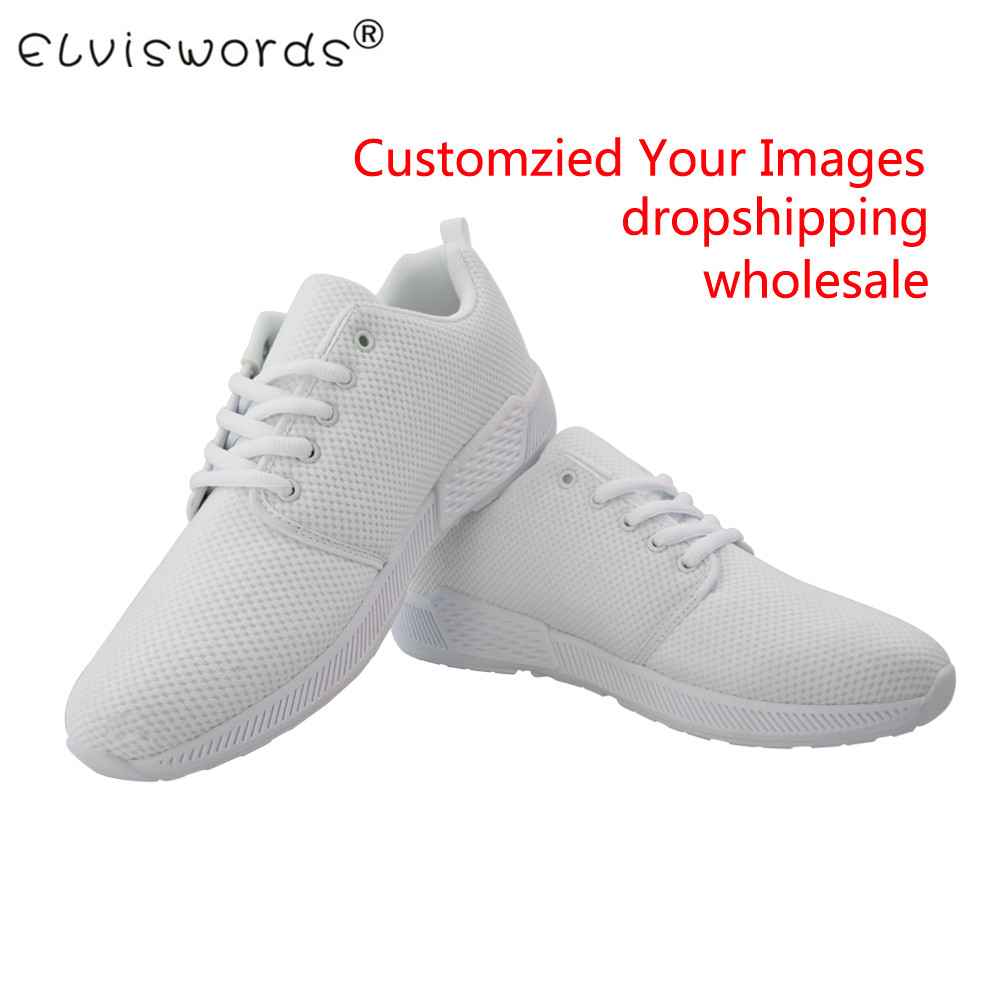 Women's Flat Shoes Customize Your Own Image/logo Printing Lace up Comfortable Ladies Sneakers Lightweight Walking Shoes Casual