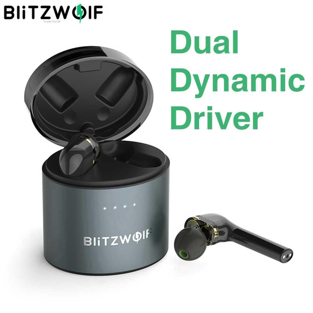 BlitzWolf BW-FYE8 مقبض طويل TWS ترو لاسلكية بلوتوث 5.0 سماعة سماعة ديناميكية مزدوجة سائق الجرافين لمسة تحكم الأيدي هيفي سماعات أذن سماعات