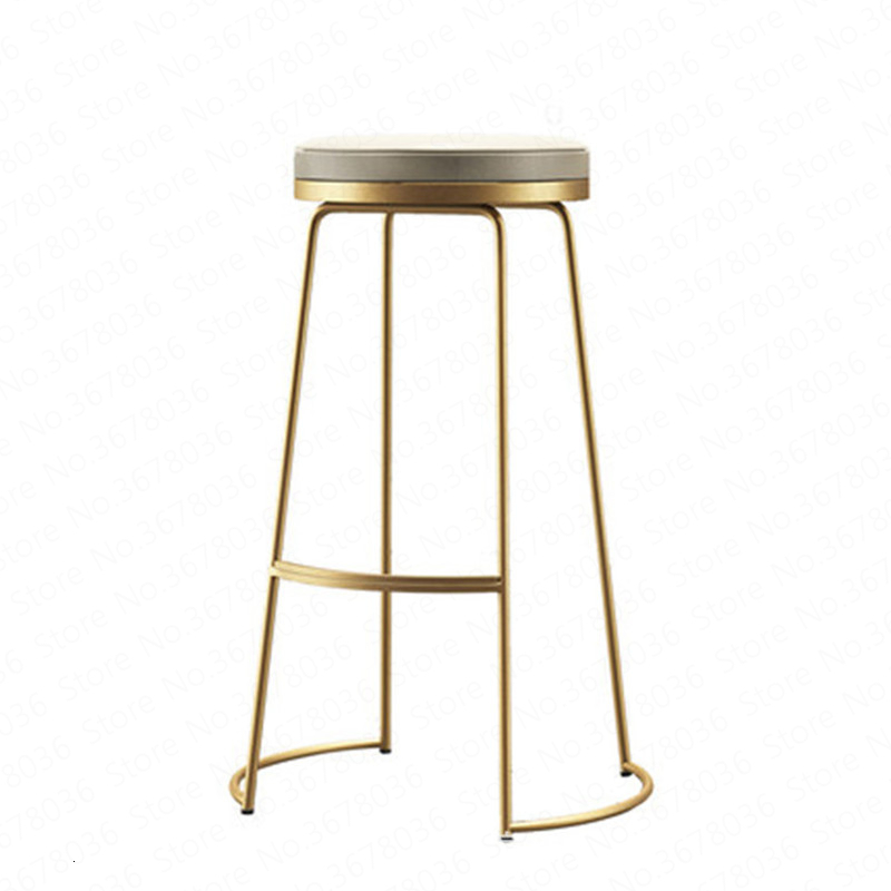 Nordic Bar Stool Modern Minimalist Bar Stool Wrought Iron Front Desk High Stool Stool Tea Shop Plug In Electric Wind Chair