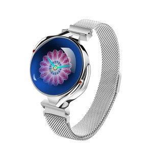 Image 2 - Mode Frauen Smart Uhr Wasserdicht Herz Rate Blutdruck Monitor Smartwatch Geschenk Für Damen Uhr Armband