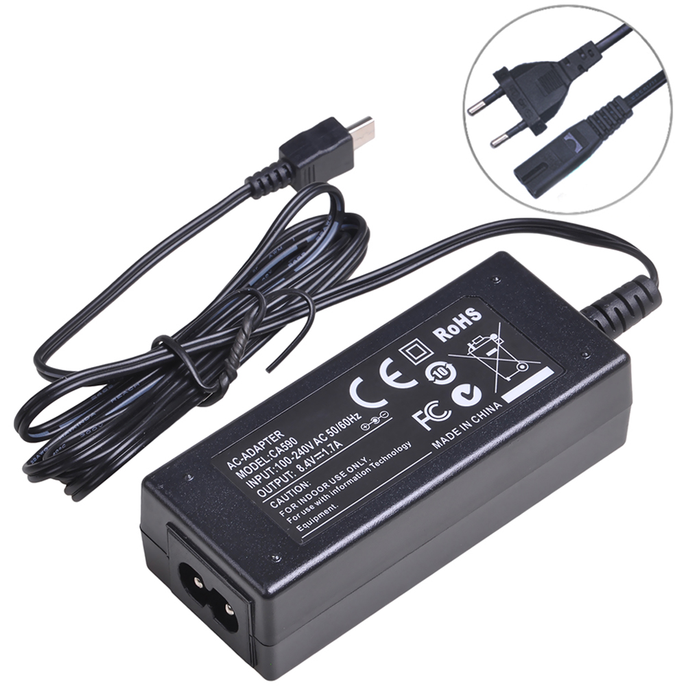 CA-590 CA590 AC Adapter Charger For Canon FS10 FS11 FS100 VIXIA HF R10 HF R11 HF R100 ZR800 ZR830 ZR850 ZR900 ZR930 ZR950 ZR960