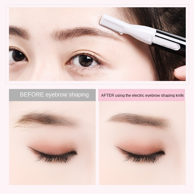 Electric Eyebrow Razor Mini Hair Epilator Eye Beauty Shaver Painless Eyebrows Remove Knife Women Cosmetic Shaper Face Trim Tool 3