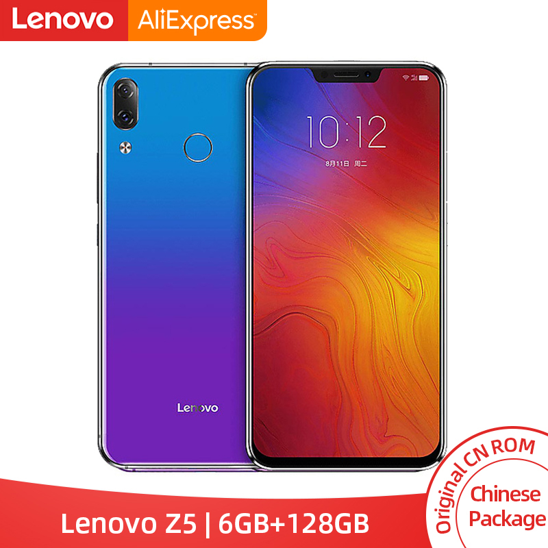 Lenovo Z5 6GB 128GB Snapdragon 636 Octa Core Mobile Phone 19:9 Screen 6.2 Inch Android 8.1 16MP 8MP Dual Rear Cam Cellphone