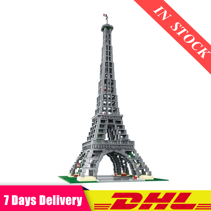 IN Stock DHL 17002 3478Pcs Paris Eiffel Tower Model Building Kits Blocks Bricks Compatible LegoINGlys 10181 Toys For Kids