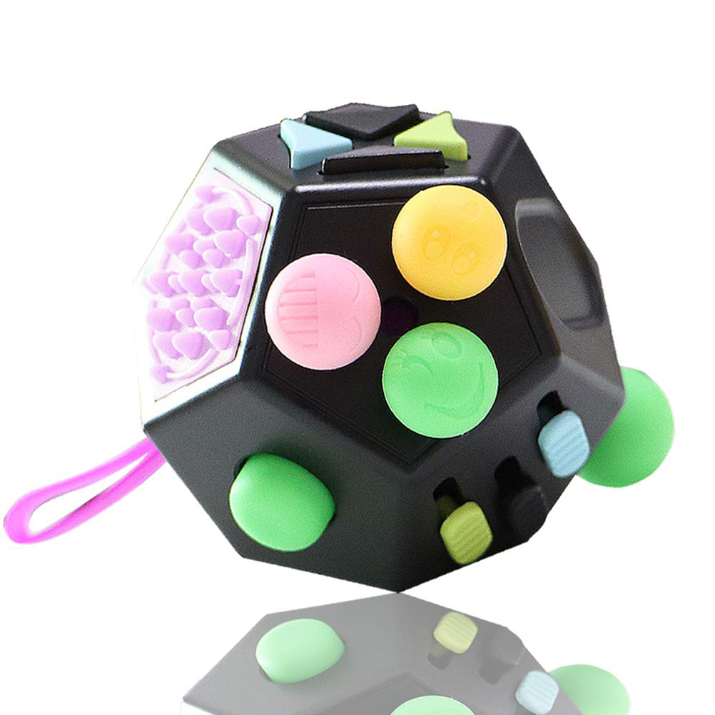 12-Sided Decompression Toy Children And Adult Cube Toys Relieve Stress And Anxiety Toys Fun Educational Toys