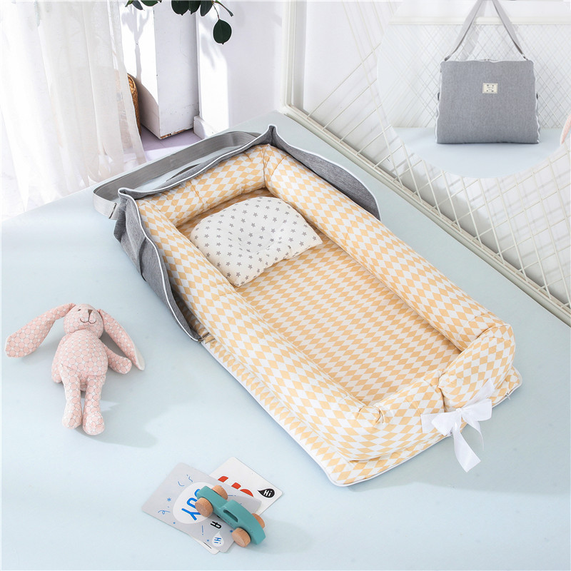 Foldable Baby Crib Portable Baby Bed Travel Essentials Cotton Infant Baby Crib Bed Backpack Newborn Baby Bed
