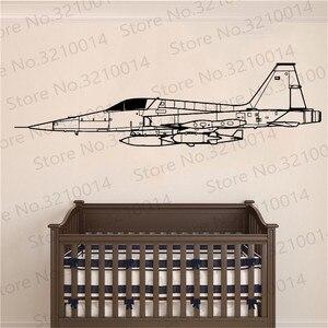 Авиационный самолет, настенная наклейка, авиация, самолет, Виниловая наклейка, боец, украшение для детской комнаты, воздушные силы, для маль...