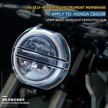 For Honda CB650R Retro Motorcycle Smoke Fog Light Headlight HD film Anti scratch protection TPU Sticker Accessories Spirit Beast