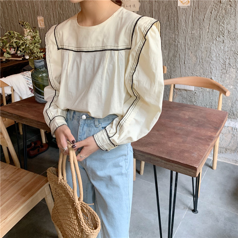 Alien Kitty 2019 Korea Streetwear Sweet Fresh Full Sleeves Work Parties Female Office Ladies Girls Casual Loose Fashion Shirt