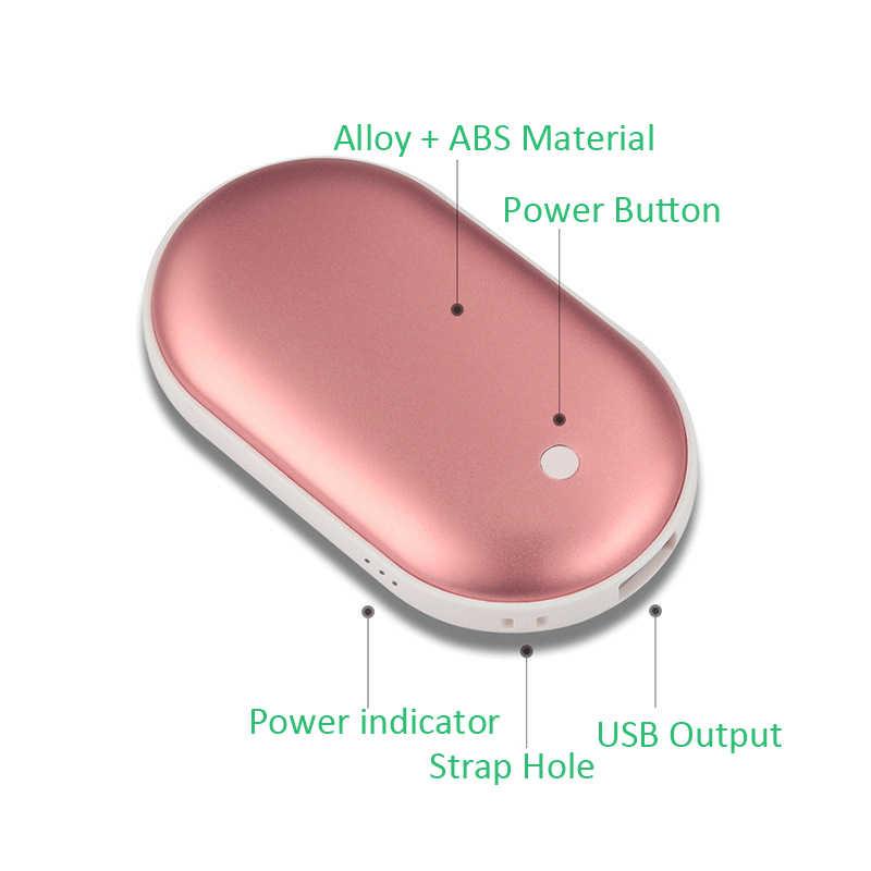 Scaldino della mano Accumulatori e caricabatterie di riserva 5200mAh Portatile Singolo USB External Battery Pack Poverbank Per il iPhone Xiaomi Scaldino della Mano Mini Powerbank