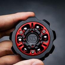 54mm DIY Classic Big Gear Fidget Spinner With Zircon Bead EDC Advanced Creative Leisure Gyro Stress Reliever ADHD Toys 2021