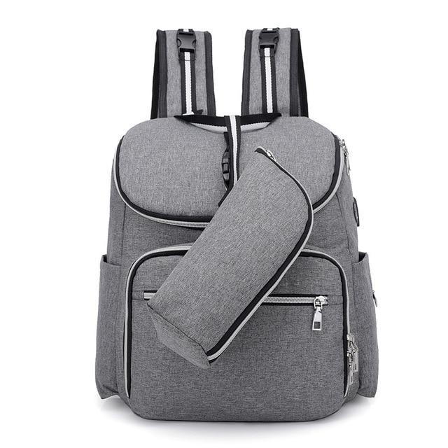 Backpack Women Multifunction Mommy Bag USB Headphones Waterproof Mom Bag Fashion Women Bags Double Backpacks Diaper Bag