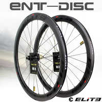 Elite Carbon Wheels Disc Brake 700c Road Bike Wheelset ENT UCI Quality Carbon Rim With Center Lock Or 6-blot Bock Road Cycling