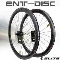 Elite Carbon Wheels Disc Brake 700c Road Bike Wheelset ENT UCI Quality Carbon Rim With Center Lock Or 6-blot Bock Road Cycling
