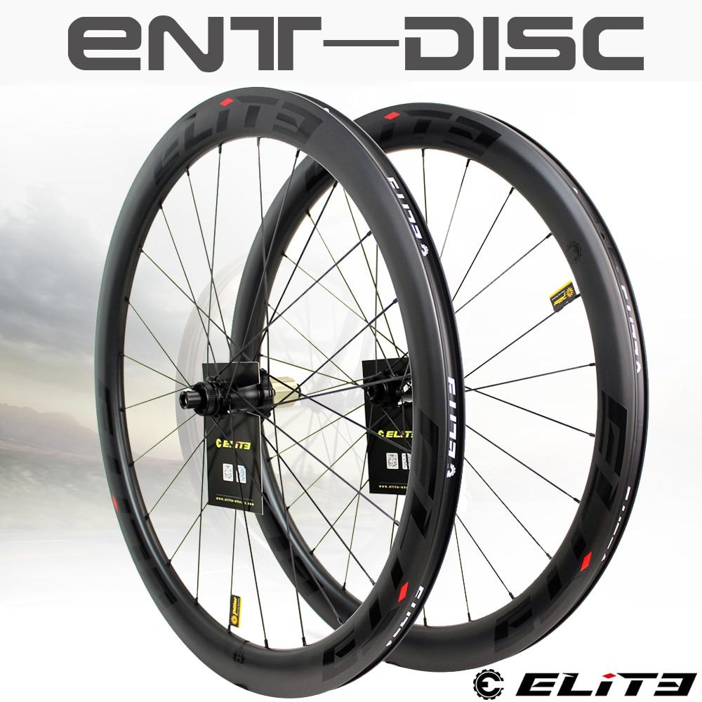 Elite rodas de carbono freio a disco 700c bicicleta de estrada rodado ent uci qualidade aro de carbono com bloqueio central ou 6-blot bock estrada ciclismo