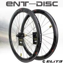 Ruote in carbonio Elite freno a disco 700c set di ruote per bici da strada ENT cerchio in carbonio di qualità UCI con blocco centrale o ciclismo su strada Bock a 6 blot