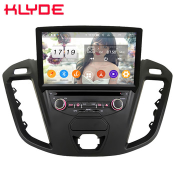 Klyde 4G WIFI IPS Android 9.0 Octa Core 4GB+64GB BT Car DVD Multimedia Player Radio Stereo For Ford Transit Custom 2013-2018