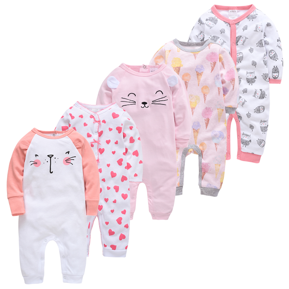 Honeyzone Newborn Baby Long Sleeve Romper Infant Lovely Print Clothes Baby  Soft Pajamas Winter Warm Jumpsuit