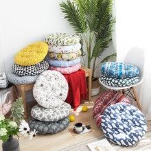 Coussin rond pour chaise de bureau, 40x40/45x45/50x50cm, décoration circulaire, tatami, vente en gros