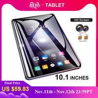 2019 Tablet 10.1 Cal dziesięć podstawowych sieci 4G Tablet z wifi PC Android 7.1 Arge 2560*1600 ekran IPS z podwójnym SIM podwójny aparat z tyłu 13.0 MP