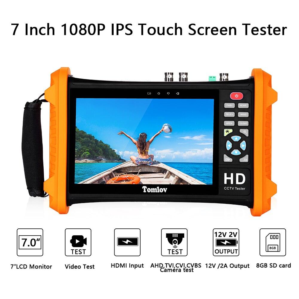 Testeur d'écran tactile IPS 7 pouces 1080P HD LCD testeur de vidéosurveillance de sécurité moniteur CVBS TVI, CVI, AHD, appareil de contrôle analogique de caméras CVBS