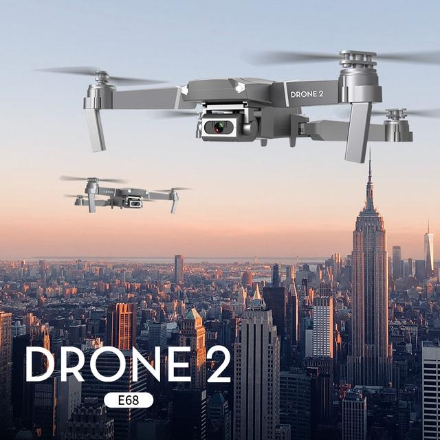 LSRC 2020 E68pro Mini Drone HD 4K 1080P WiFi FPV Camera Drones Height Hold Mode RC Foldable Quadcopter Dron Boy Toy Gift E58/E68