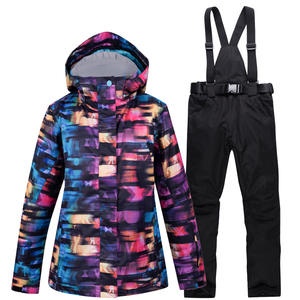 Pants Snowboarding-Clothing Waterproof Women Winter with Belt Suit-Sets Mountain-Skiing-Jacket