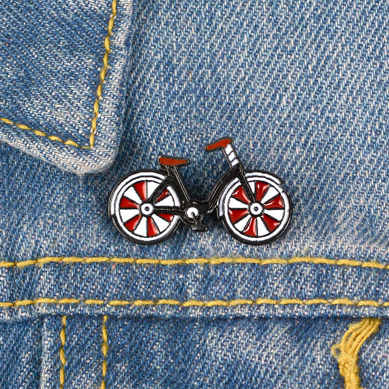 Sepeda Lucu Kerah Pin Logam Mempromosikan Lingkungan Olahraga Bros Lencana Aksesoris Ransel Pin Perhiasan Hadiah untuk Teman-teman