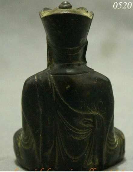 YM 308 Coletar Budismo Chinês Bronze TangSeng Monk Kshitigarbha Joss Estátua de Buda