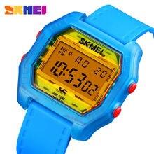 Skmei оригинальные мужские цифровые часы ударопрочные крутые