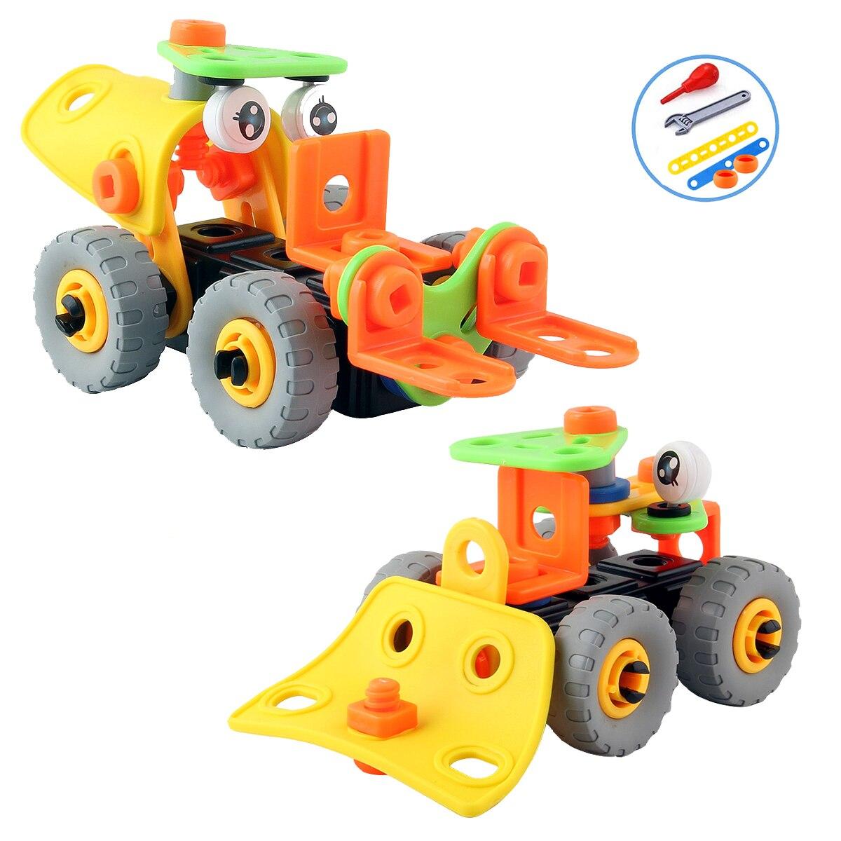 STEM Building Nut Disassembly Engineering Truck Crane Forklift Glider Kids Screw Boys Creative Tool Education Toys DIY Car Model