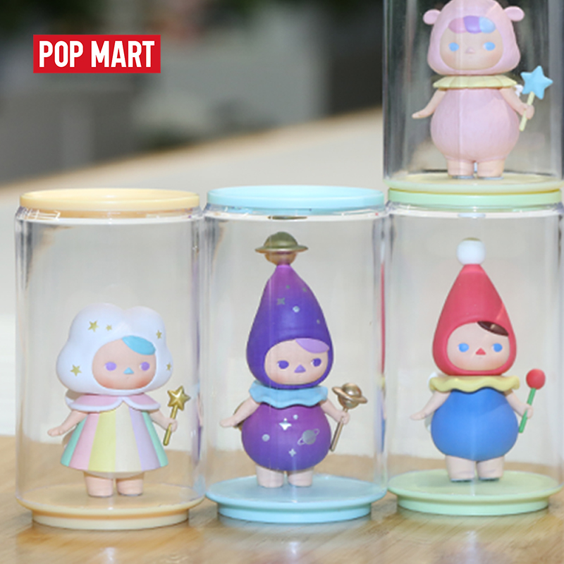 POPMART Toy Display Cans Random Plastic box gift free shipping(China)
