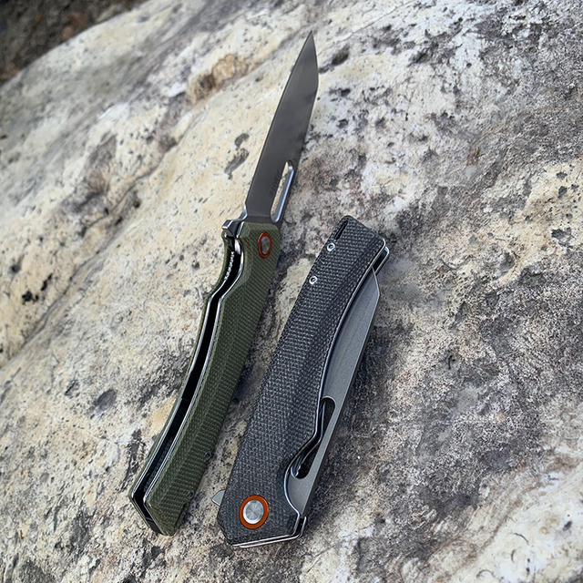 TUNAFIRE one D2 Blade High-end linen Handle Camping Hunting Folding Knife Outdoor Pocket Survival edc Knife 4
