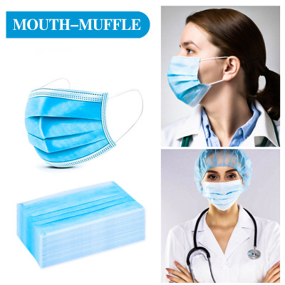24-hour Medical 100 Pieces Of Surgical Anti-virus Respirator Disposable Masks 3-layer Ear-hanging