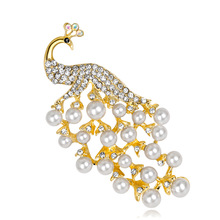 Fine 18k Peacock Brooch White Pearl Yiwu Jewelry Quick Sale Gift Selling