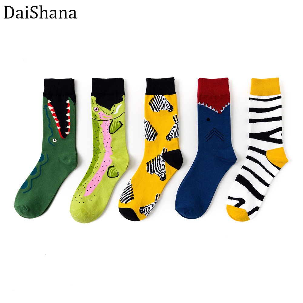 2019 Trend Street New Socks Tide Card In The Same Geometry Stockings Catoon Animal Street Fashion Mens Socks Hot Selling 1 Pair.