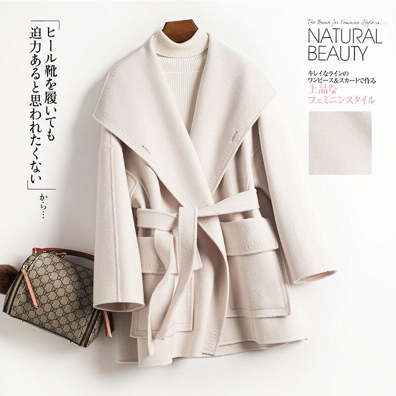 Rambler 2019, fall / Winter Women's new double-ply, 100% wool, women's short, korean-style